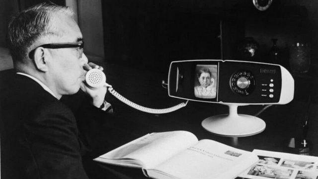 Toshiba Model 500 тестируется в штабквартире компании, 6 мая 1968 года, Япония.