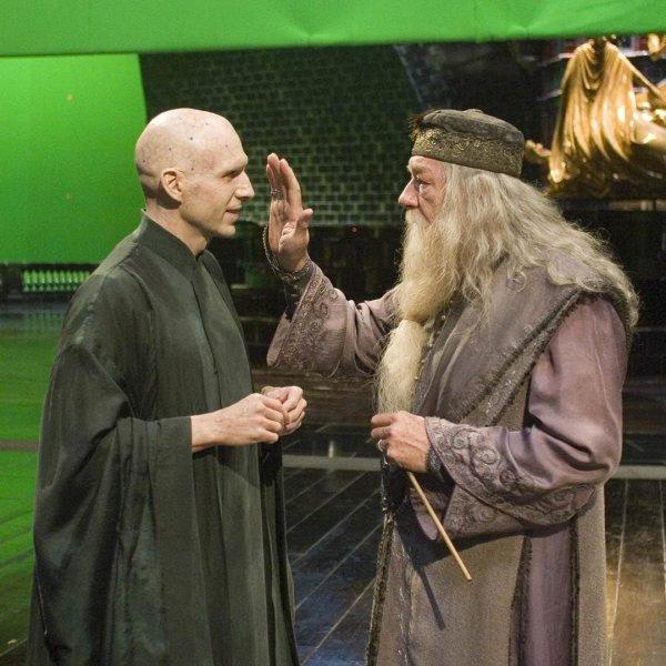 Волан-де-Морт и Дамблдор общаются за кадром