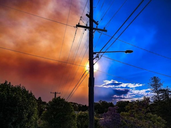 Небо во время пожаров в Австралии
