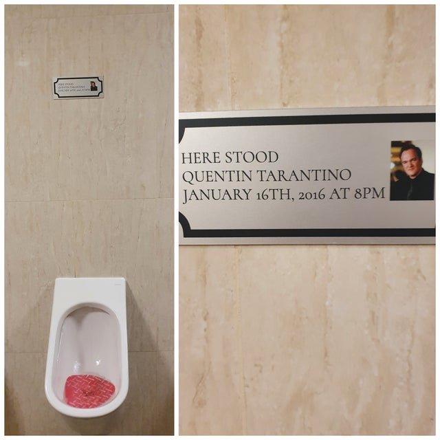 Я пользовался тем же туалетом, что и Квентин Тарантино