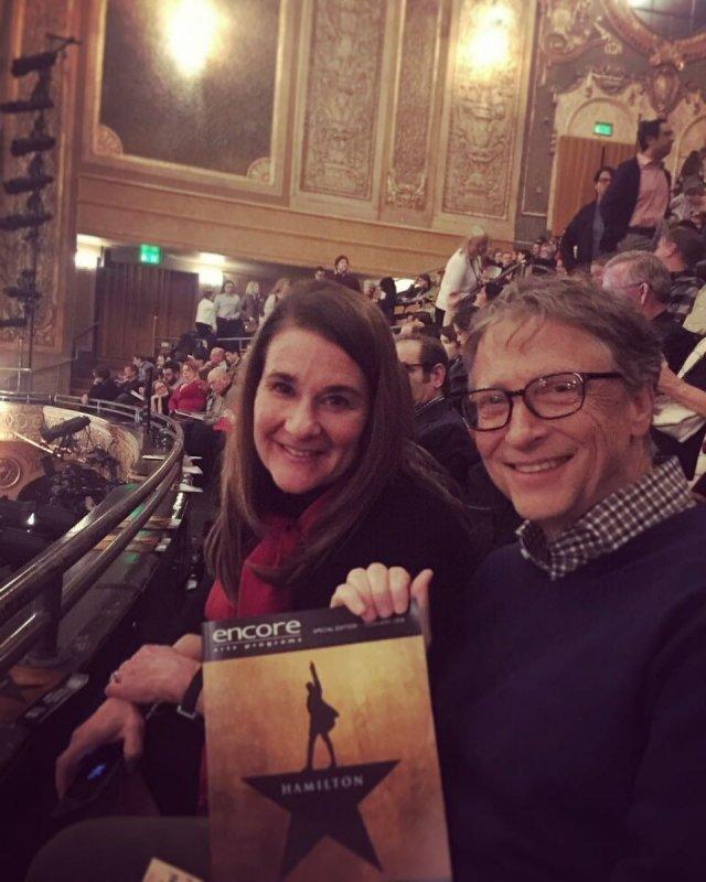 """Билл Гейтс разводится с Мелиндой Гейтс после 27 лет брака на премьере мюзикла """"Гамильтон"""""""