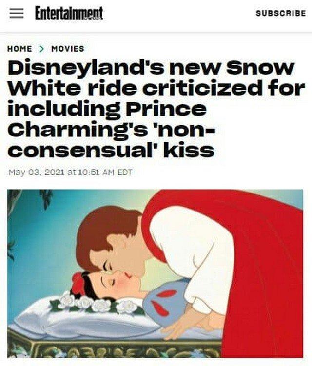 """""""Диснейленд"""" раскритиковали за сцену пробуждения Белоснежки поцелуем без ее согласия"""