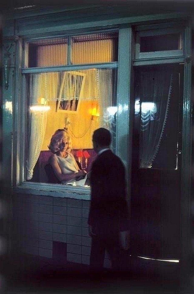 Квартал красных фонарей, Амстердам, Нидерланды, 1968 год