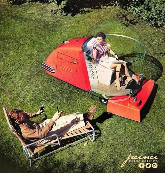 Футуристическая газонокосилка. США, 1957 год.