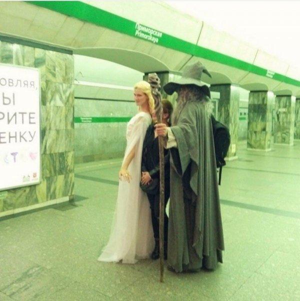 гендальф в метро