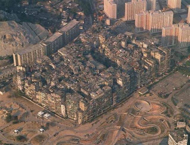 Город-крепость Коулун в микрорайоне Гонконга.