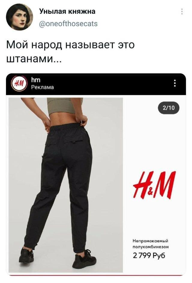 твит про штаны