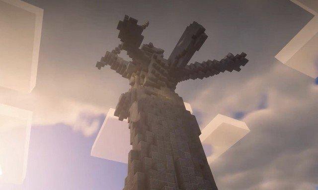 Школьники построили в Minecraft копию памятника «Родина-мать»