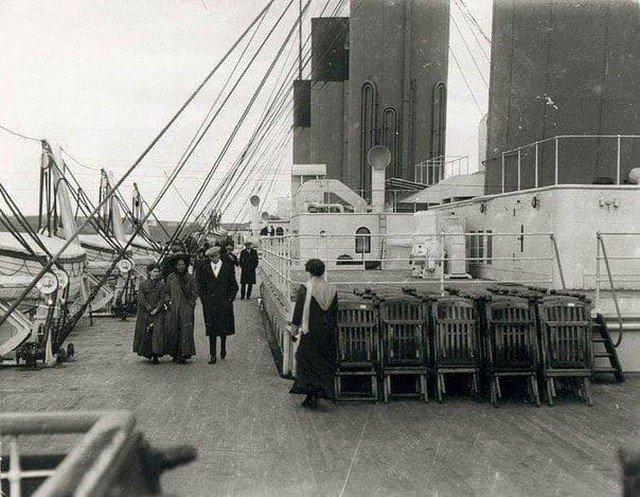 Палуба «Титаника» для пассажиров второго класса, 11 апреля 1912 года.