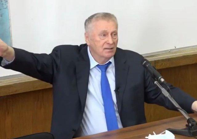 Владимир Жириновский прочел студентам лекцию о том, как США изобрели COVID и подставили Китай