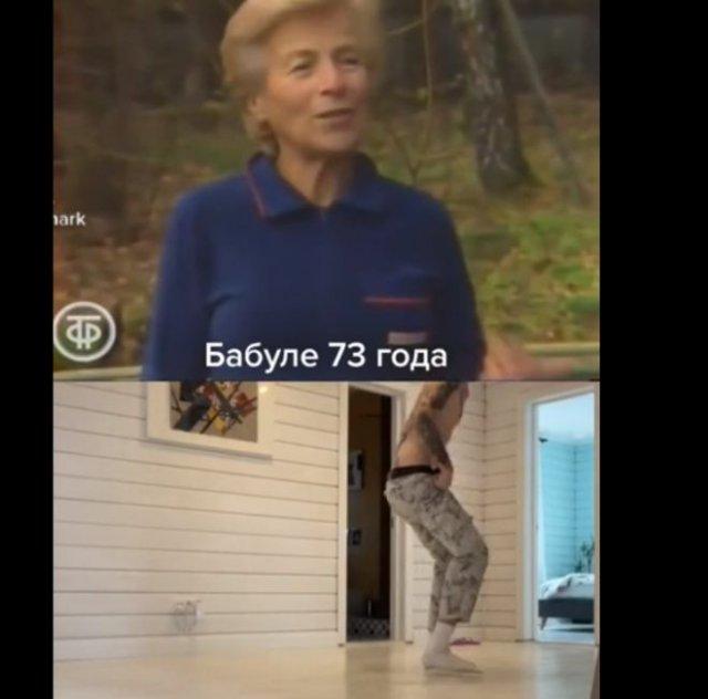 Попробовал выполнить упражнение, показанное 73-летней женщиной