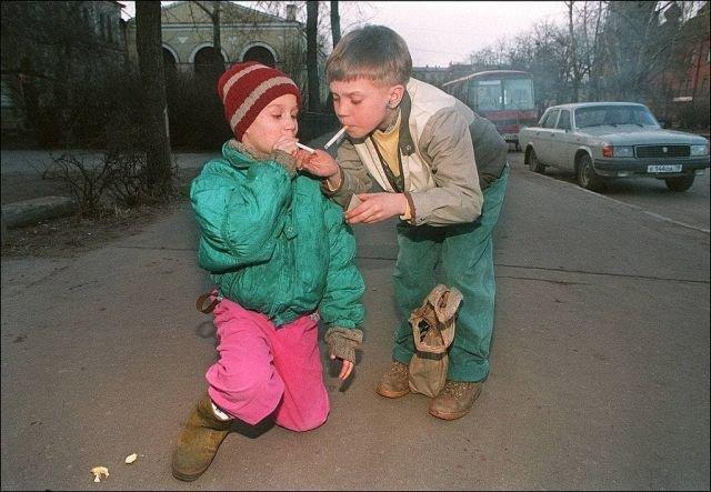 Беспризорные дети в Петербурге, середина 90-х