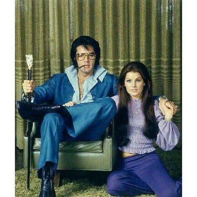 Король рок-н-ролла певец Элвис Пресли и его жена Присцилла, 60-е.