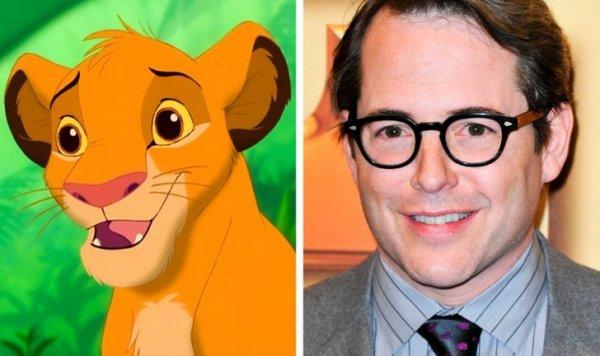 Мэттью Бродерик — Симба в мультфильме «Король Лев»