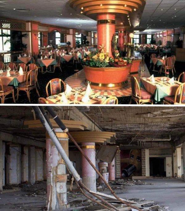 Заброшенный отель 1980-х годов на Мальте. Тогда и сейчас