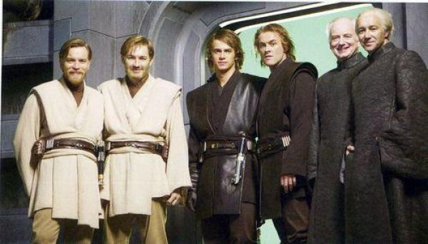 Актёры из «Звёздных войн» рядом с их дублёрами