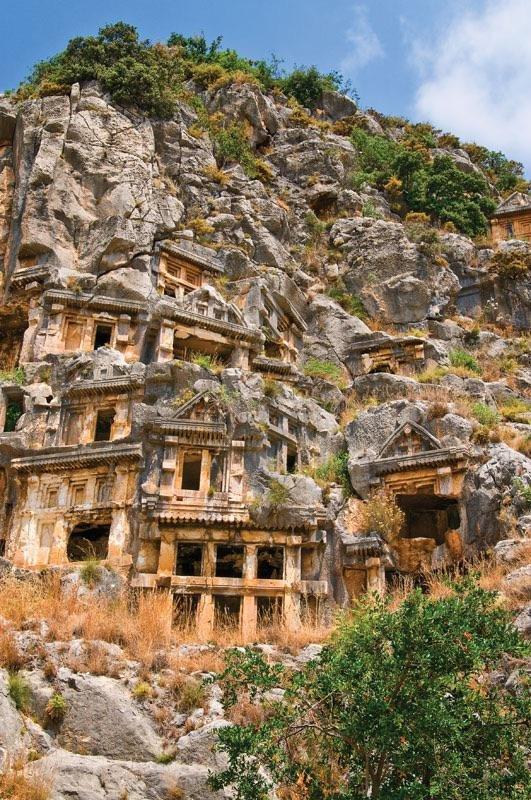 Заброшенный город Мира древней Ликии, Турция
