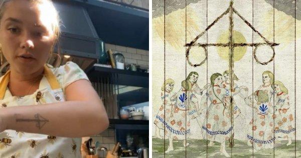 Флоренс Пью сделала татуировку в честь фильма «Солнцестояние»