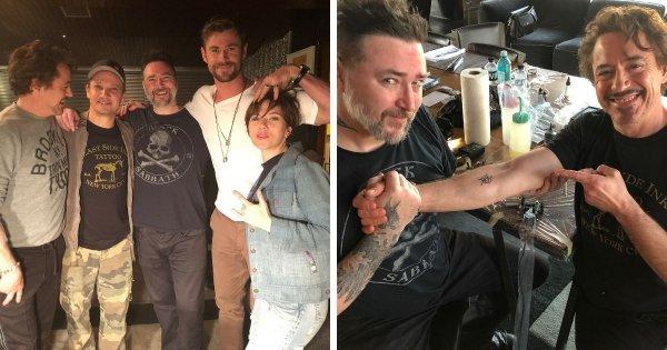 Актёры, сыгравшие в «Мстителях», сделали похожие татуировки