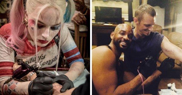 Команда «Отряда самоубийц» сделала друг другу одинаковые татуировки