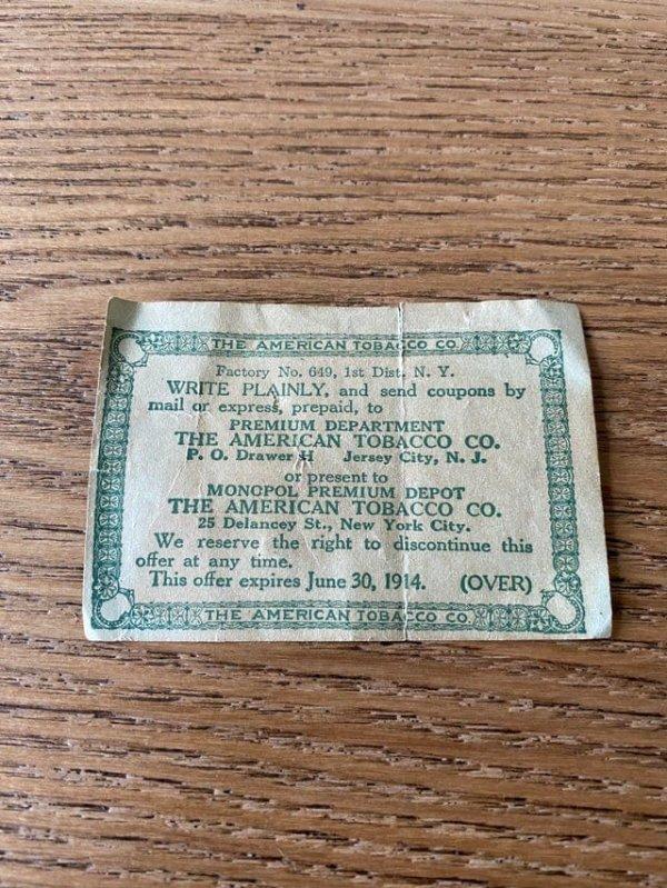 Я нашёл купон, срок действия которого истёк более 100 лет назад