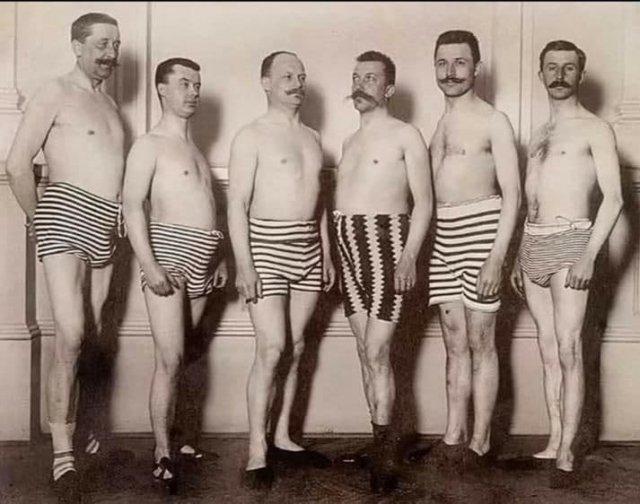 Мужской конкурс красоты. 1919 год.