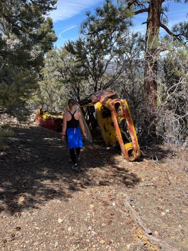 Нашли грузовик посреди леса. На мили вокруг нет дорог