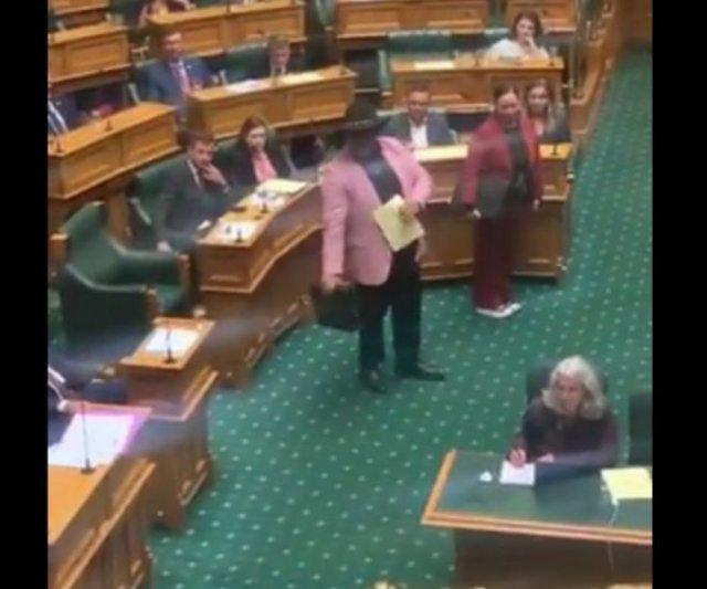 Депутат из числа коренных народов Новой Зеландии выразил свое недовольство с помощью танца и песни