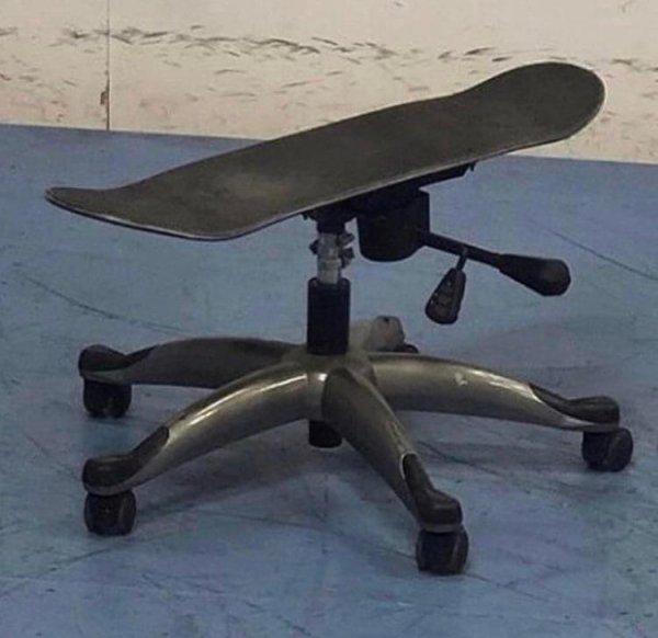 Скейт для офисных работников