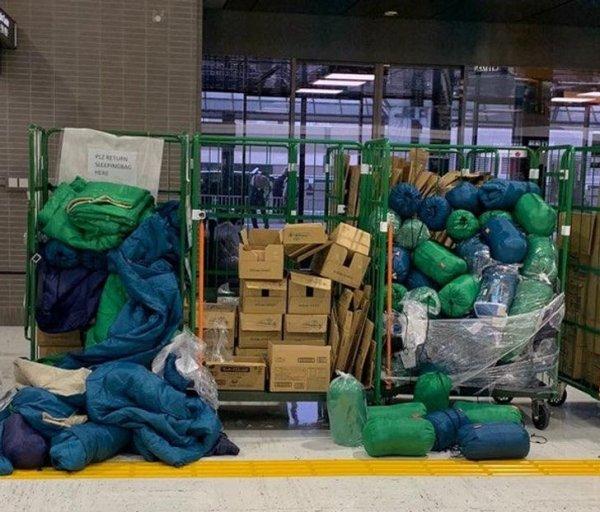 В токийских аэропортах можно взять в аренду спальные мешки