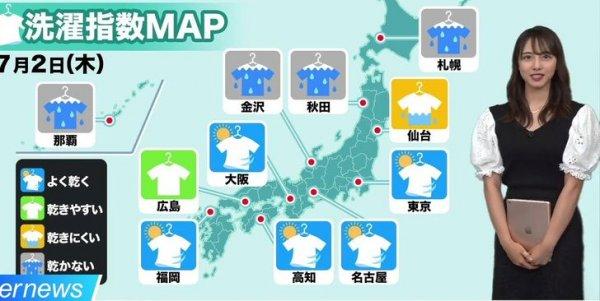 В Японии есть специальный прогноз погоды для стирки белья