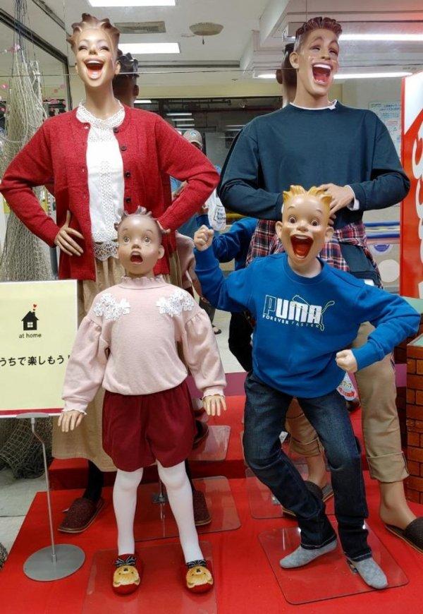 Немножко безумные манекены в Японии