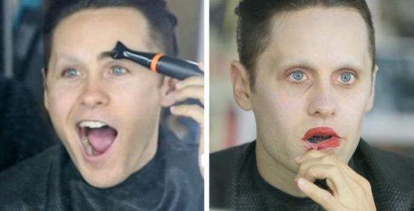 Джаред Лето впервые примеряет макияж для роли Джокера в «Отряде самоубийц»