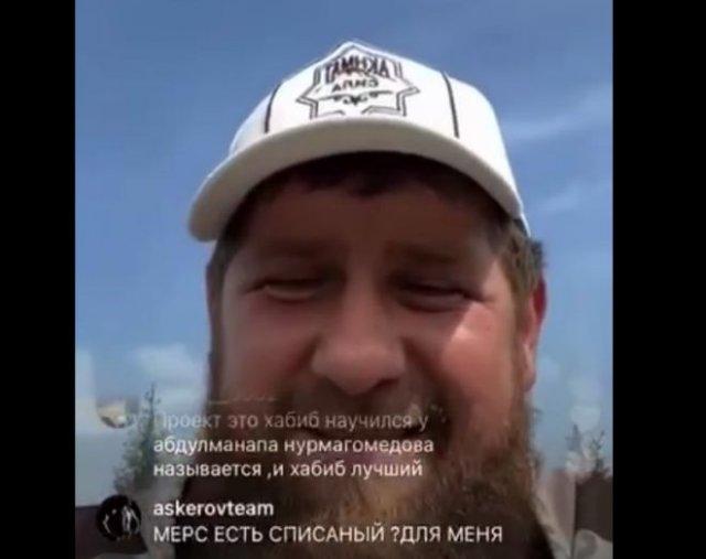 Рамзан Кадыров угрожает человеку, который обидел его в комментариях во время трансляции