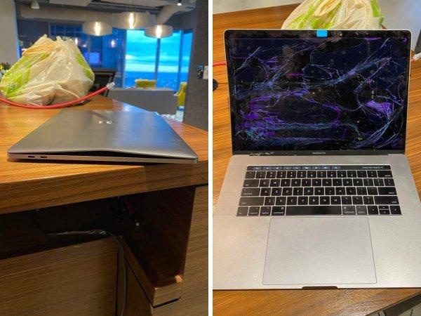Клиент сказал, что экран его ноутбука перестал работать