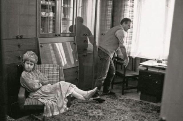 Ксения Собчак и ее отец — Анатолий Собчак, в 1989 году в Ленинграде.