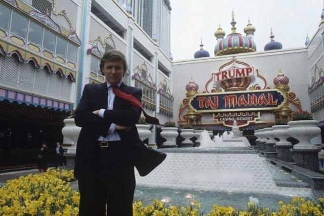 "Дональд Трамп и его казино ""Трамп Тадж-Махал"", 1990-е годы."