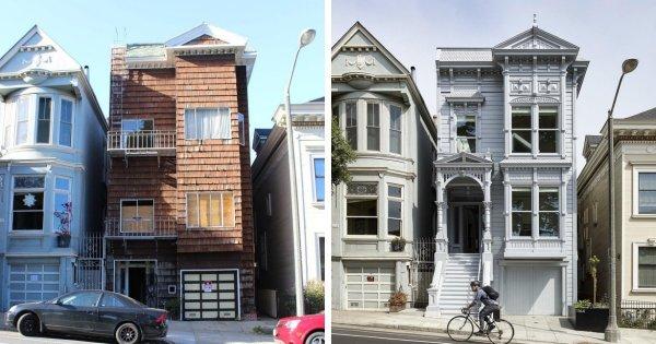 Викторианское здание в Сан-Франциско