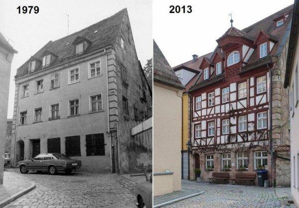 Восстановление старого фахверкового таунхауса в Нюрнберге