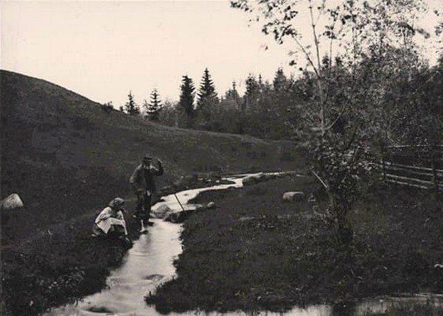 Истоки Волги. Российская империя. 1893 год.