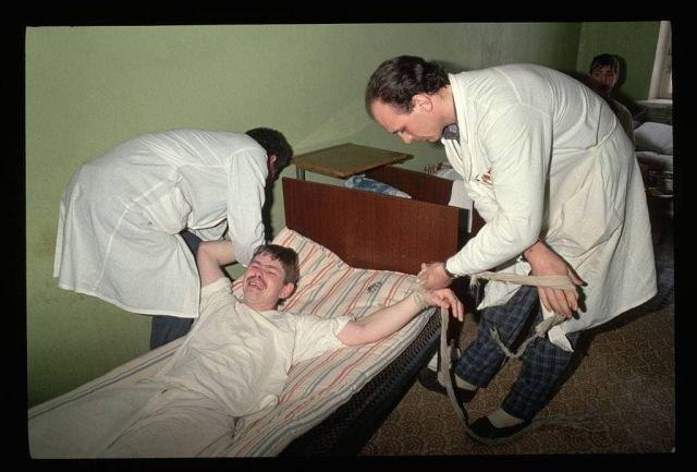 Пациент Московской психиатрической больницы № 3 имени В. А. Гиляровского, 1992 год.