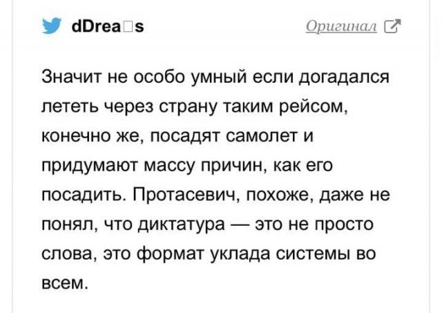 Реакция соцсетей на экстренную посадку самолета Ryanair, на борту которого был Роман Протасевич