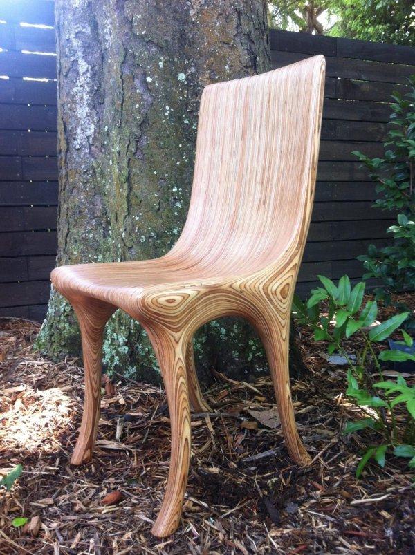 Самодельный стул для посиделок на террасе