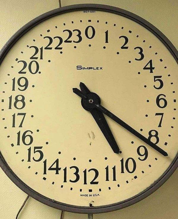 Часы сразу на все 24 часа