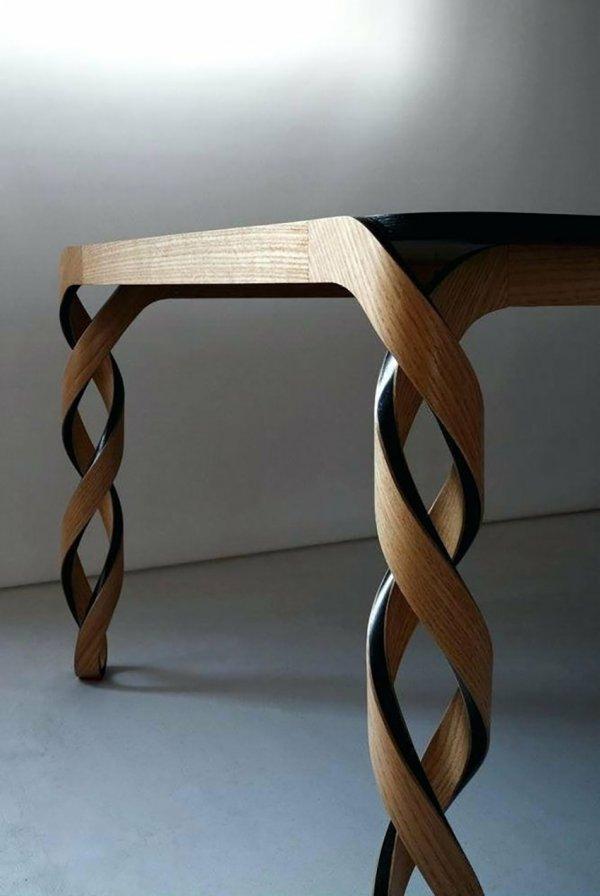 Ножки стола с двойной спиралью