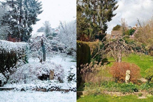 Насколько быстро меняется погода в Великобритании.