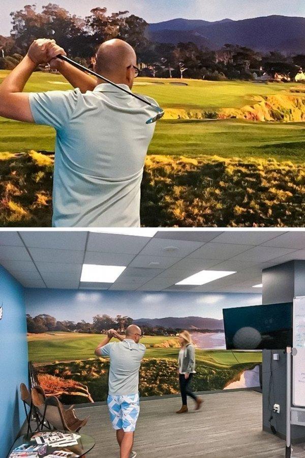 Съездили с парнями поиграть в гольф