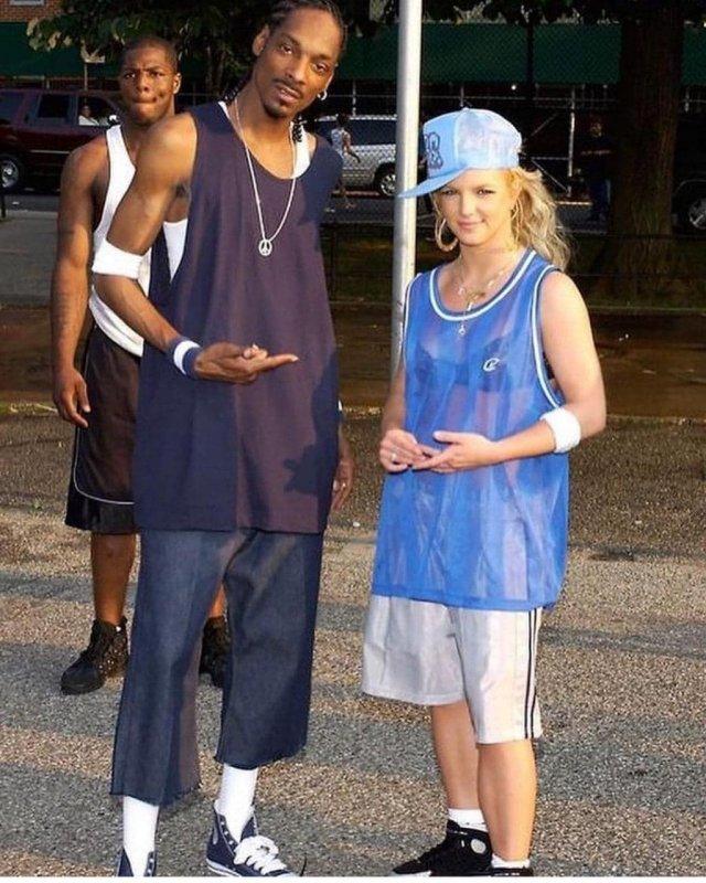 Snoop Dogg и Бритни Спирс, 2004 год.