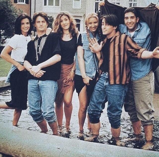 """Актерский состав сериала """"Друзья"""", 1994 год."""