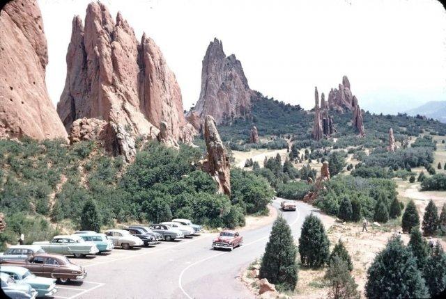 Ландшафтный парк Сад Богов (Garden of the Gods), штат Колорадо, 1950-е.